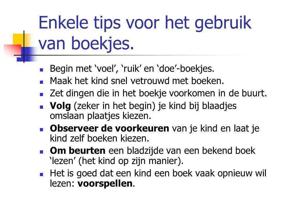 Enkele tips voor het gebruik van boekjes.