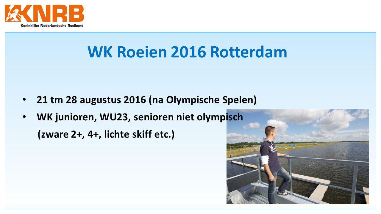 WK Roeien 2016 Rotterdam 21 tm 28 augustus 2016 (na Olympische Spelen)