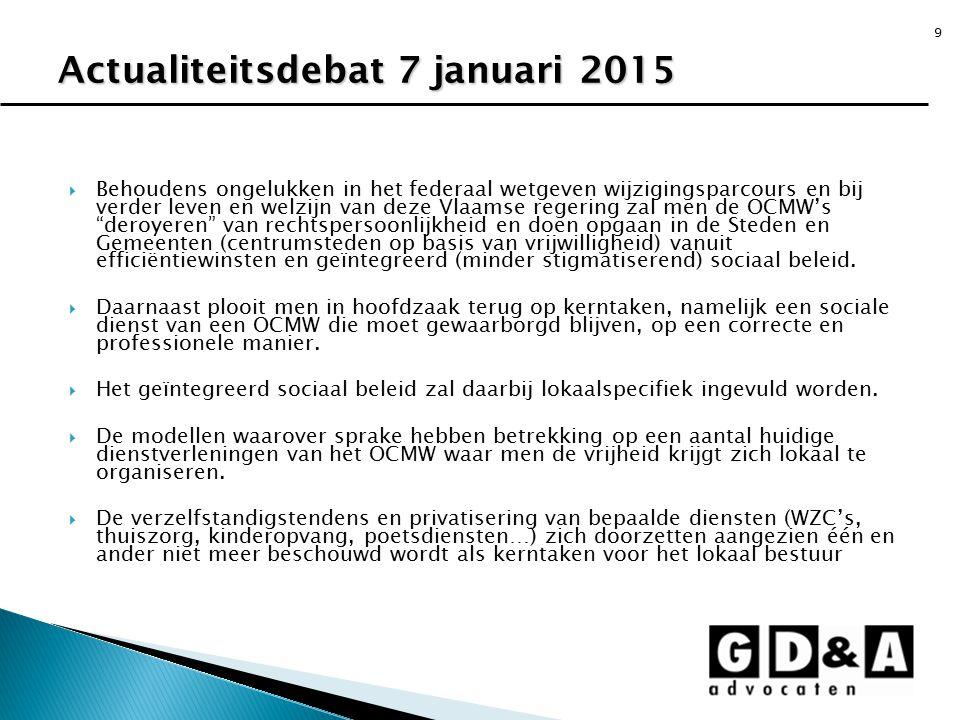 Actualiteitsdebat 7 januari 2015