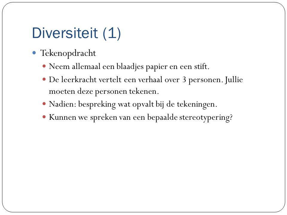Diversiteit (1) Tekenopdracht