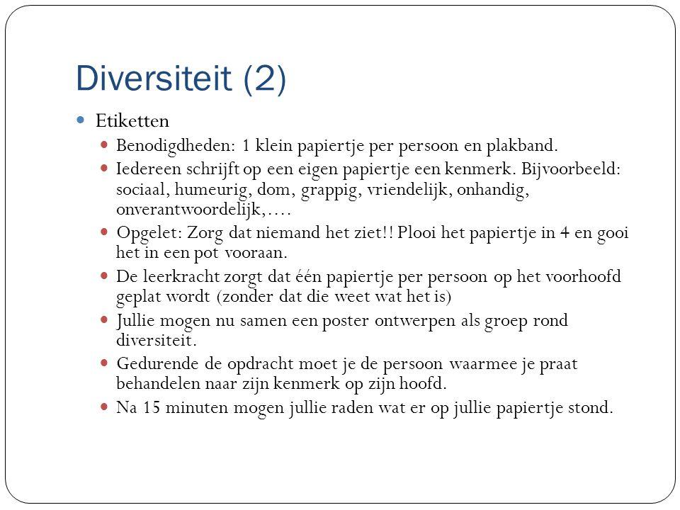 Diversiteit (2) Etiketten