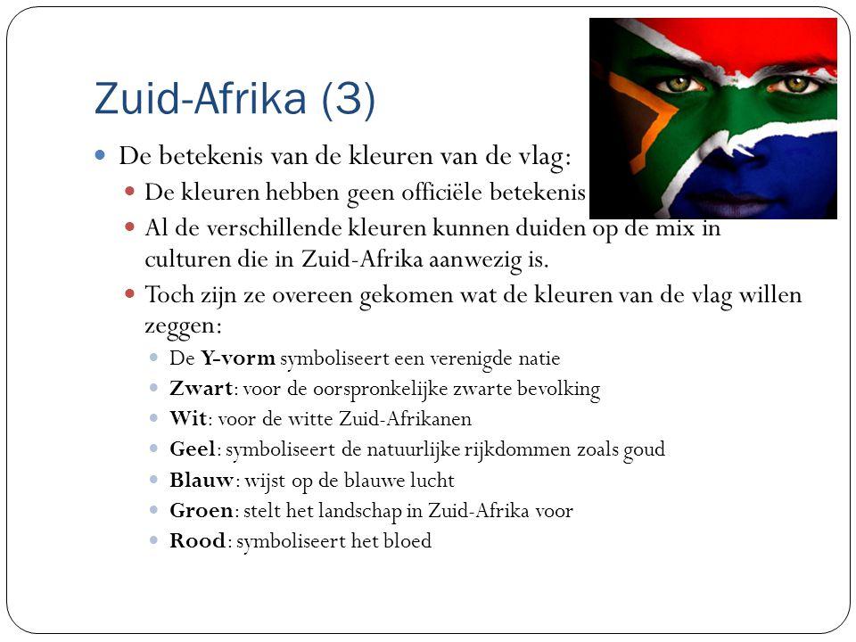 Zuid-Afrika (3) De betekenis van de kleuren van de vlag: