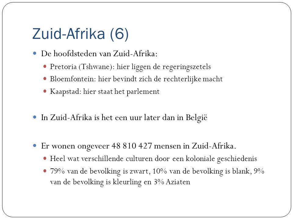 Zuid-Afrika (6) De hoofdsteden van Zuid-Afrika: