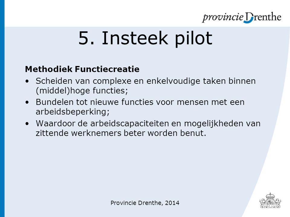 5. Insteek pilot Methodiek Functiecreatie