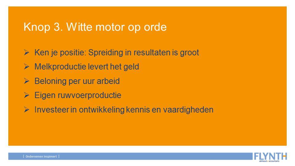 Knop 3. Witte motor op orde