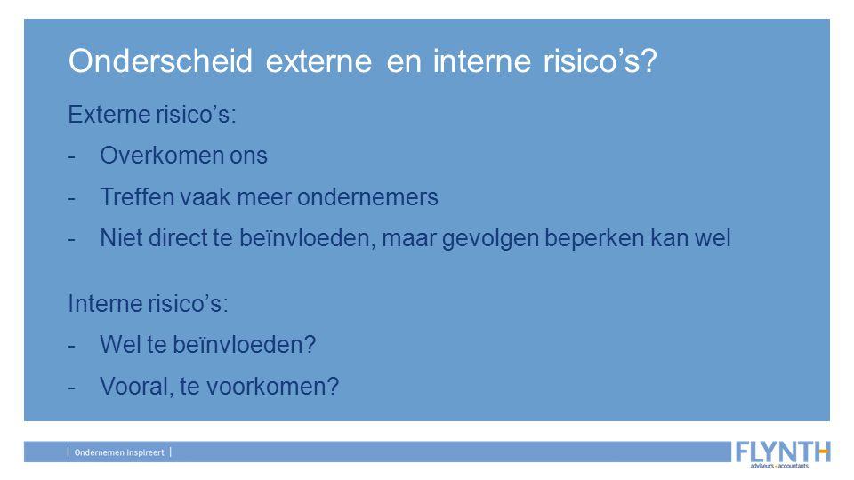 Onderscheid externe en interne risico's