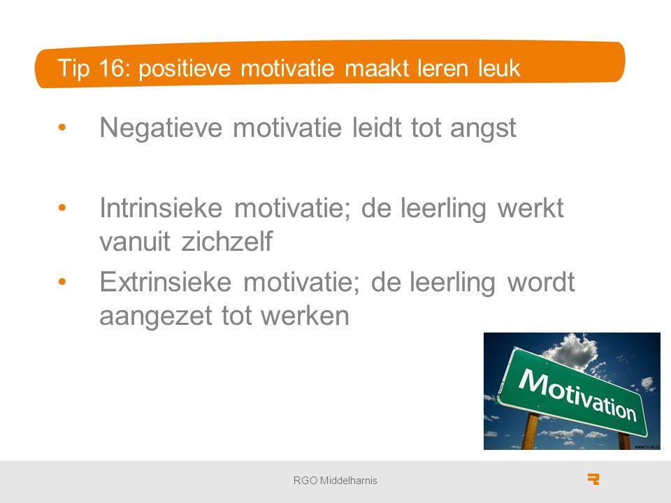 Tip 16: positieve motivatie maakt leren leuk