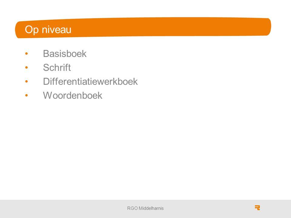Op niveau Basisboek Schrift Differentiatiewerkboek Woordenboek