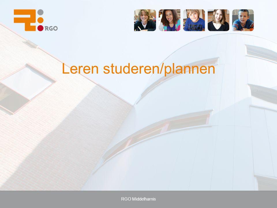 Leren studeren/plannen