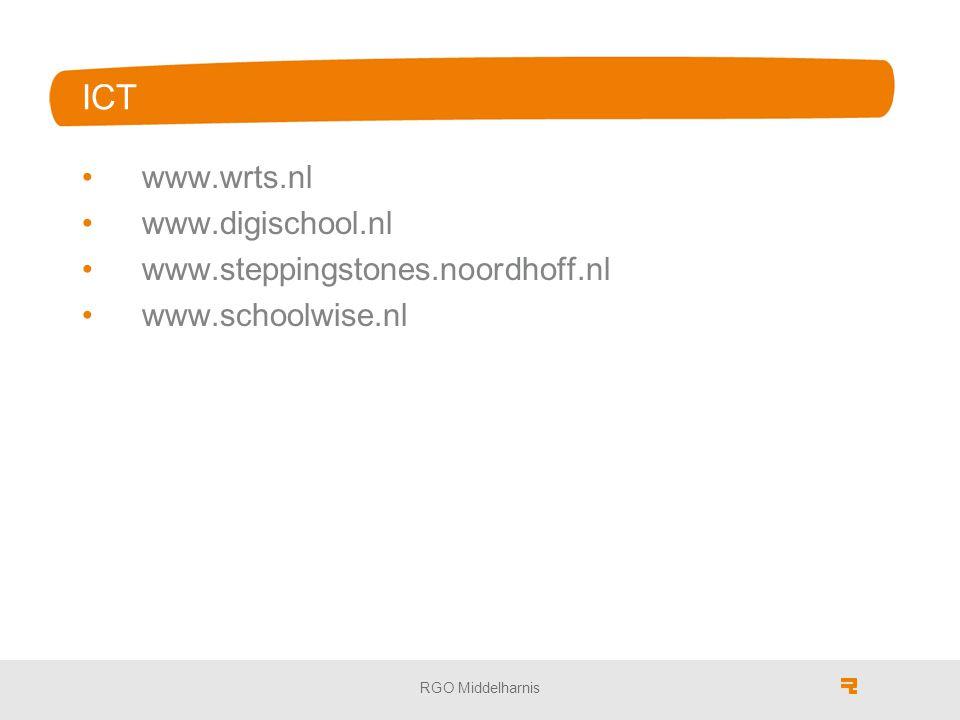 ICT www.wrts.nl www.digischool.nl www.steppingstones.noordhoff.nl