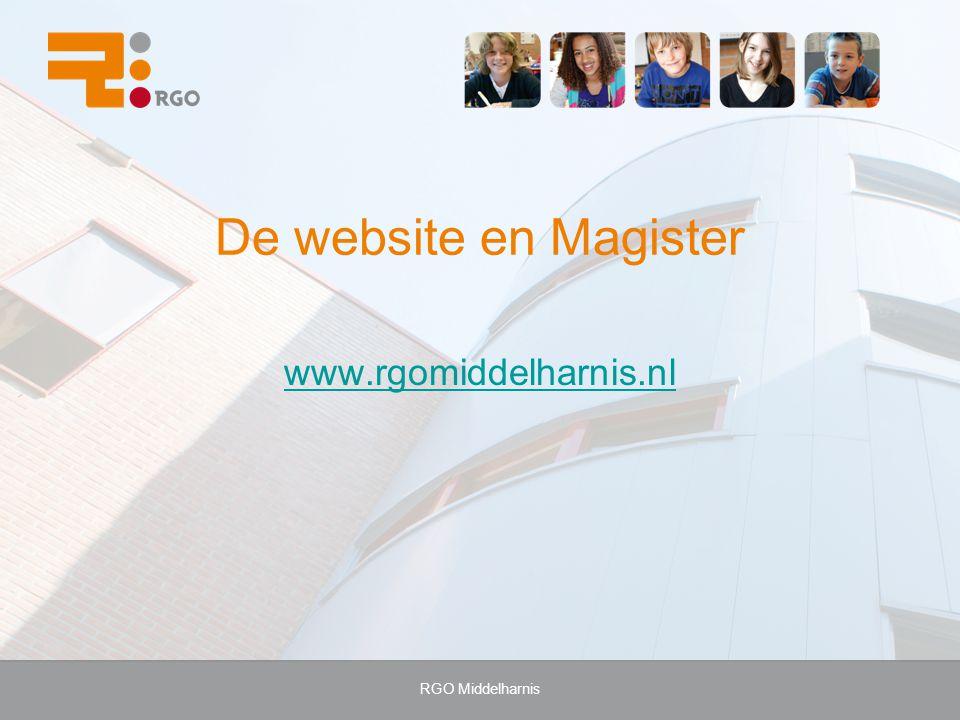 De website en Magister www.rgomiddelharnis.nl RGO Middelharnis
