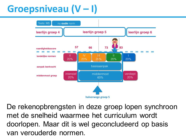 Groepsniveau (V – I)