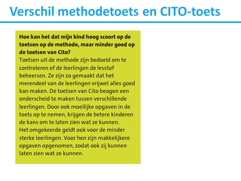 Verschil methodetoets en CITO-toets