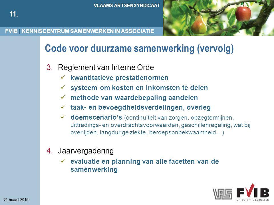 Code voor duurzame samenwerking (vervolg)