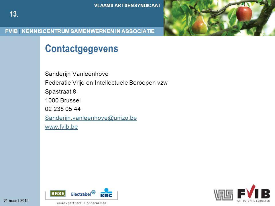 Contactgegevens Sanderijn Vanleenhove
