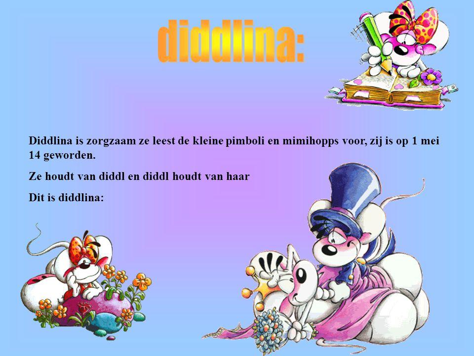 diddlina: Diddlina is zorgzaam ze leest de kleine pimboli en mimihopps voor, zij is op 1 mei 14 geworden.