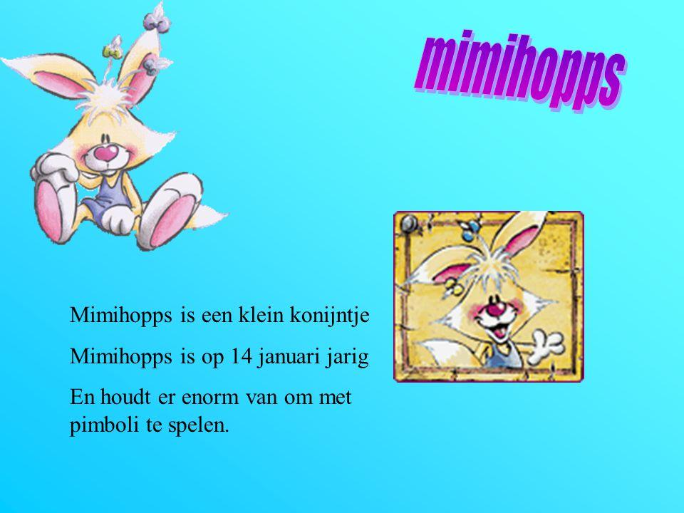 mimihopps Mimihopps is een klein konijntje