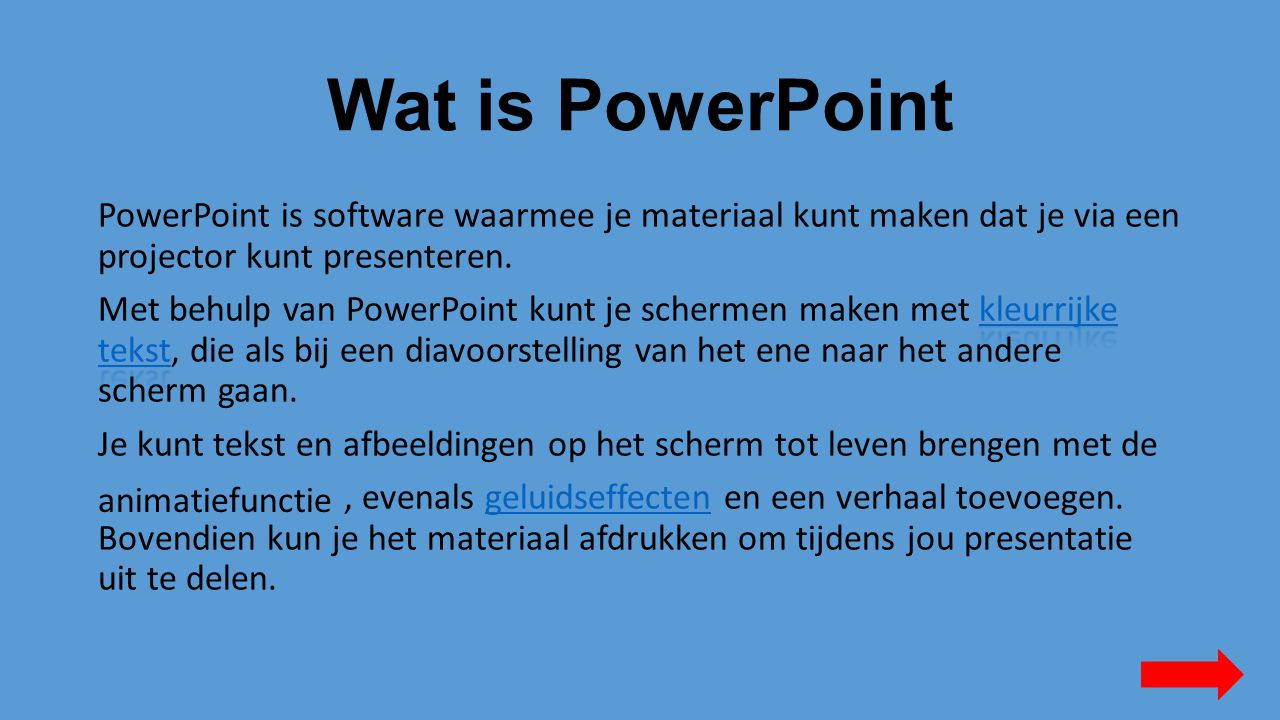 Wat is PowerPoint