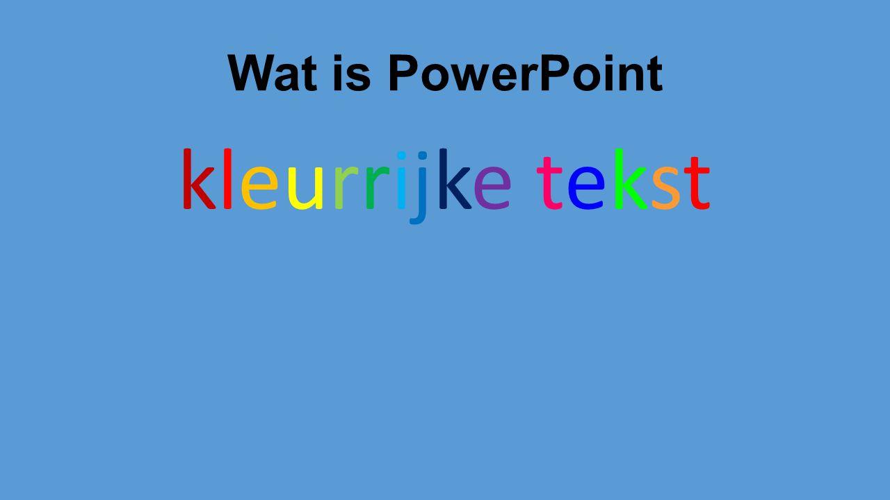 Wat is PowerPoint kleurrijke tekst