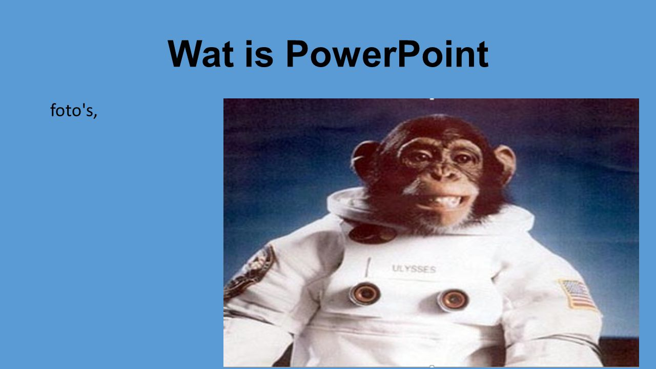 Wat is PowerPoint foto s,