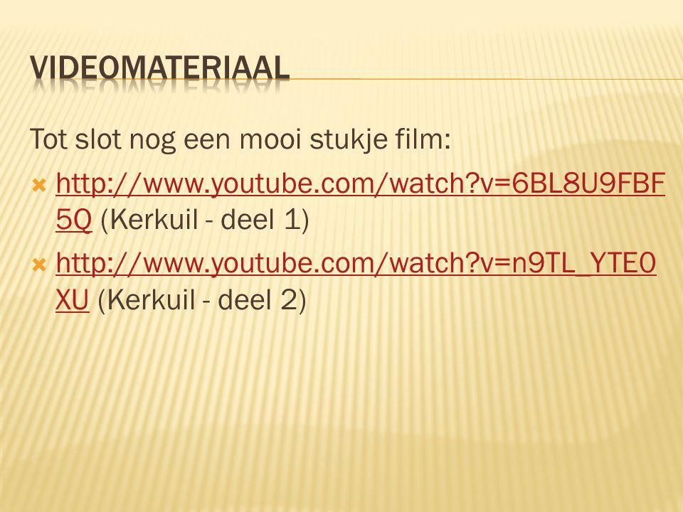 Videomateriaal Tot slot nog een mooi stukje film: