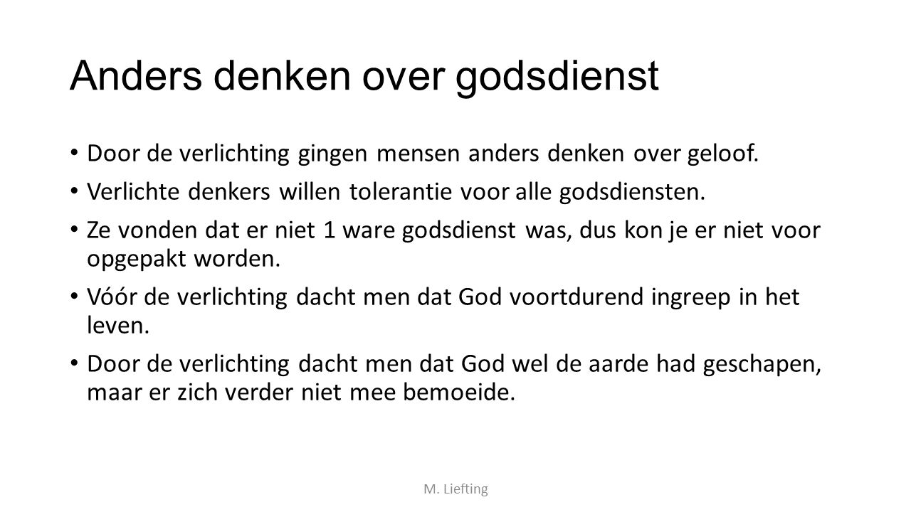 Anders denken over godsdienst