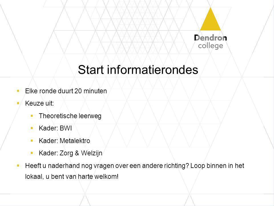 Start informatierondes