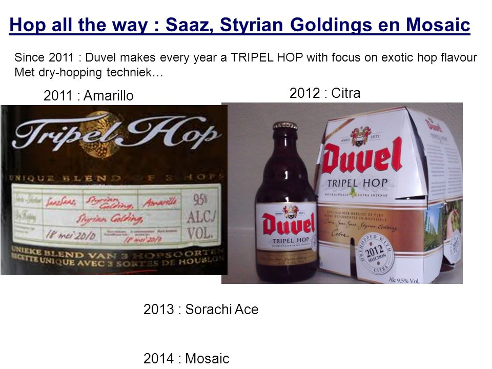 Hop all the way : Saaz, Styrian Goldings en Mosaic