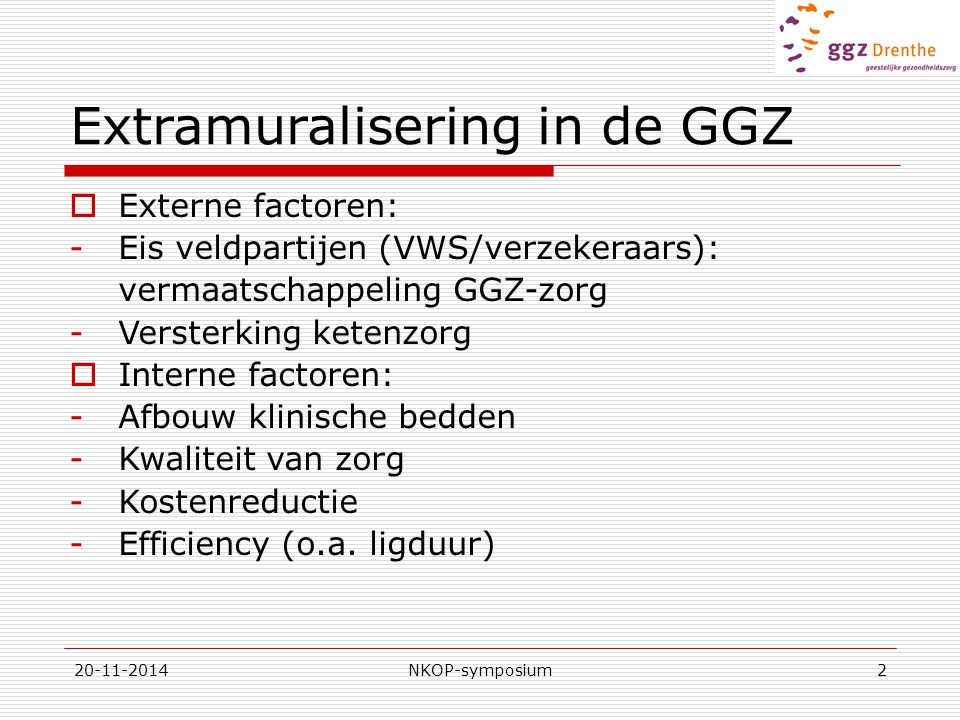 Extramuralisering in de GGZ
