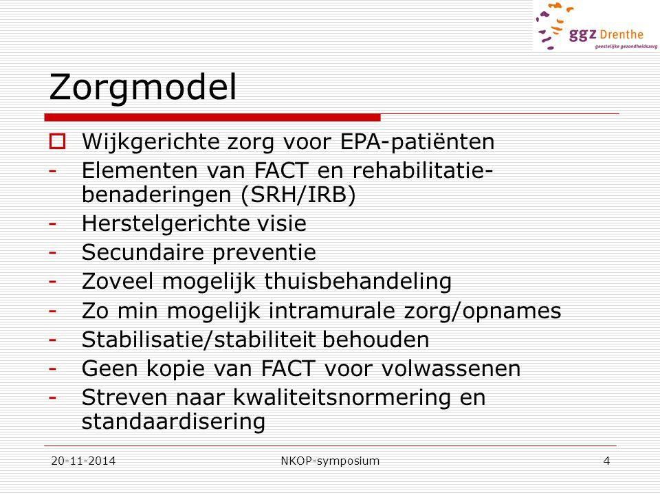 Zorgmodel Wijkgerichte zorg voor EPA-patiënten