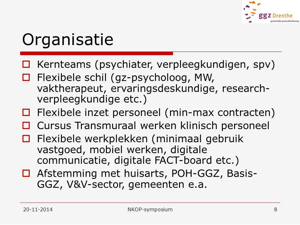 Organisatie Kernteams (psychiater, verpleegkundigen, spv)