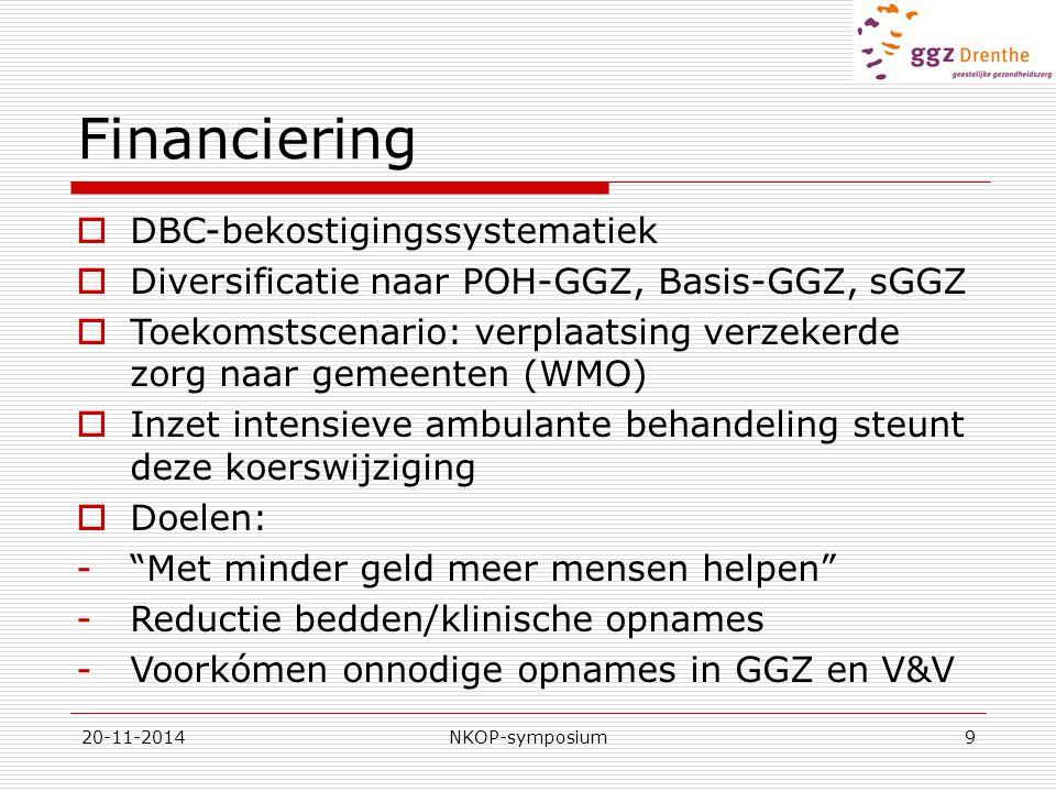 Financiering DBC-bekostigingssystematiek
