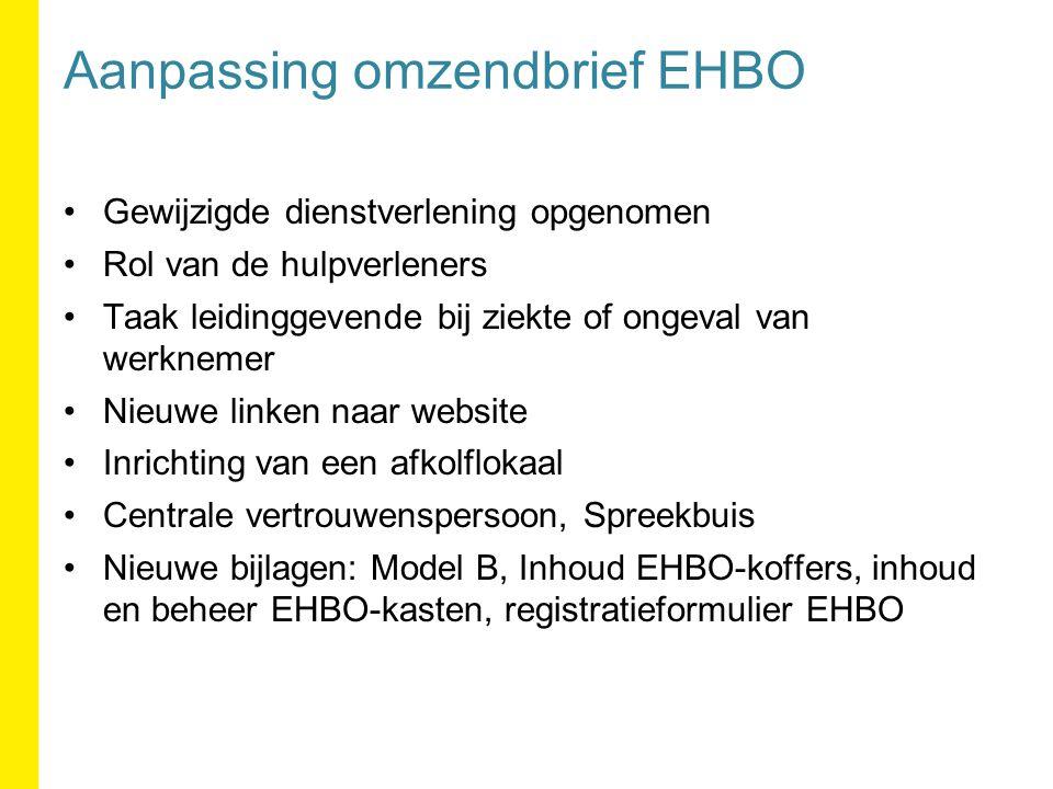 Aanpassing omzendbrief EHBO