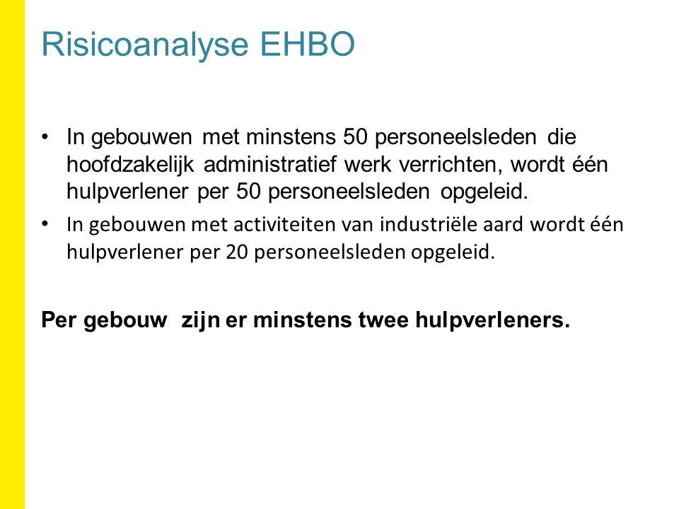 Risicoanalyse EHBO