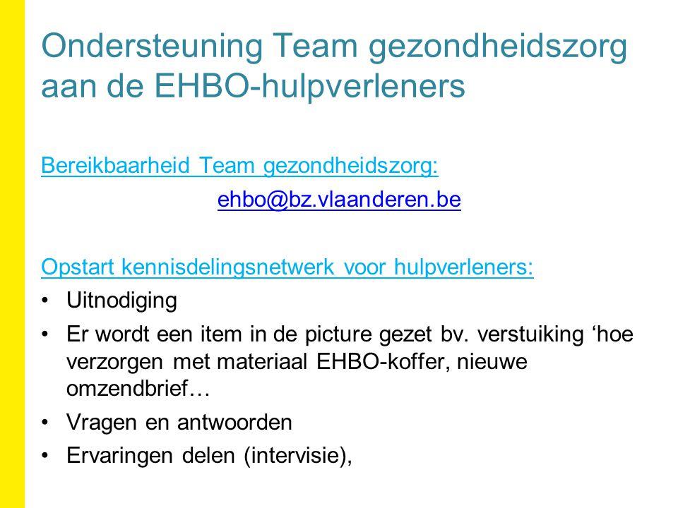 Ondersteuning Team gezondheidszorg aan de EHBO-hulpverleners