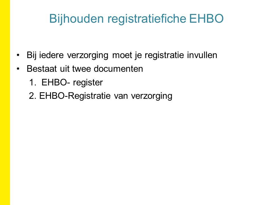 Bijhouden registratiefiche EHBO
