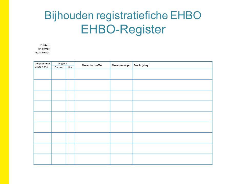 Bijhouden registratiefiche EHBO EHBO-Register