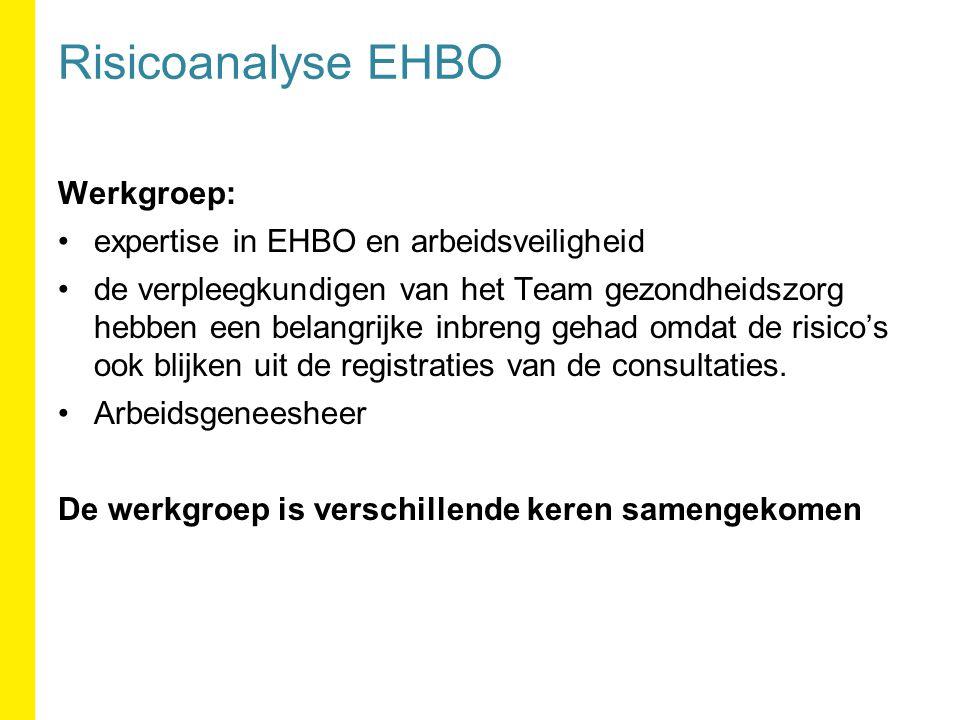 Risicoanalyse EHBO Werkgroep: expertise in EHBO en arbeidsveiligheid