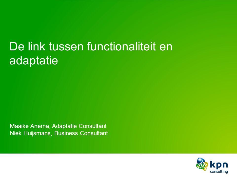 De link tussen functionaliteit en adaptatie