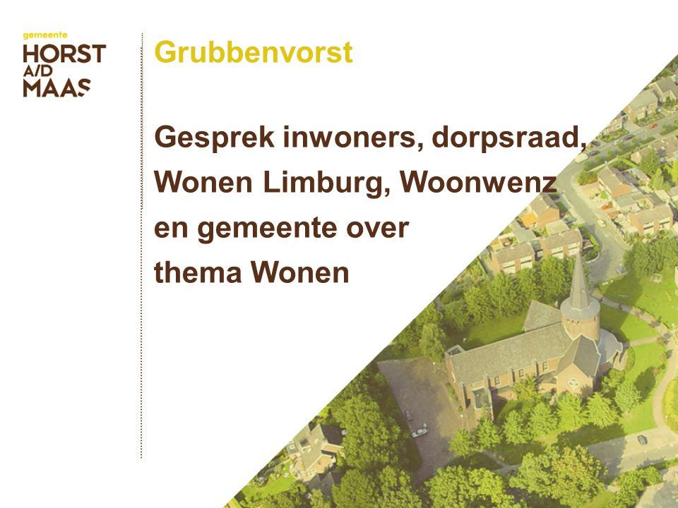 Grubbenvorst Gesprek inwoners, dorpsraad, Wonen Limburg, Woonwenz en gemeente over thema Wonen