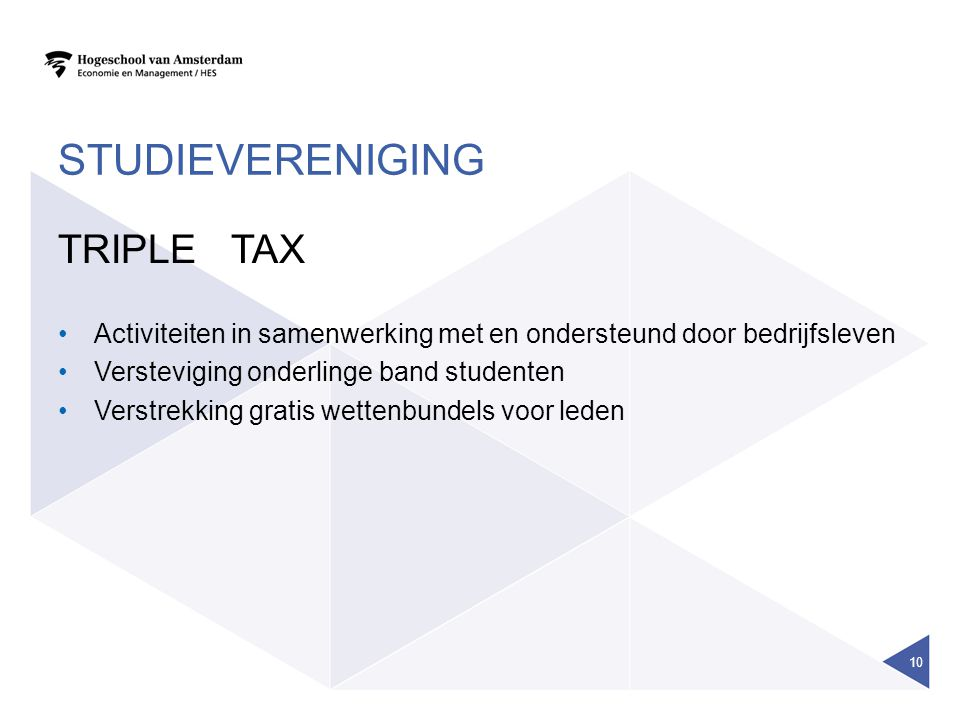 Studievereniging TRIPLE TAX