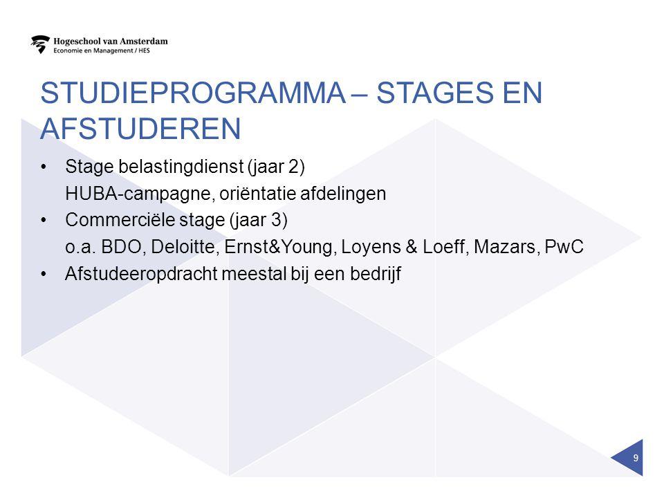 studieprogramma – stages en afstuderen