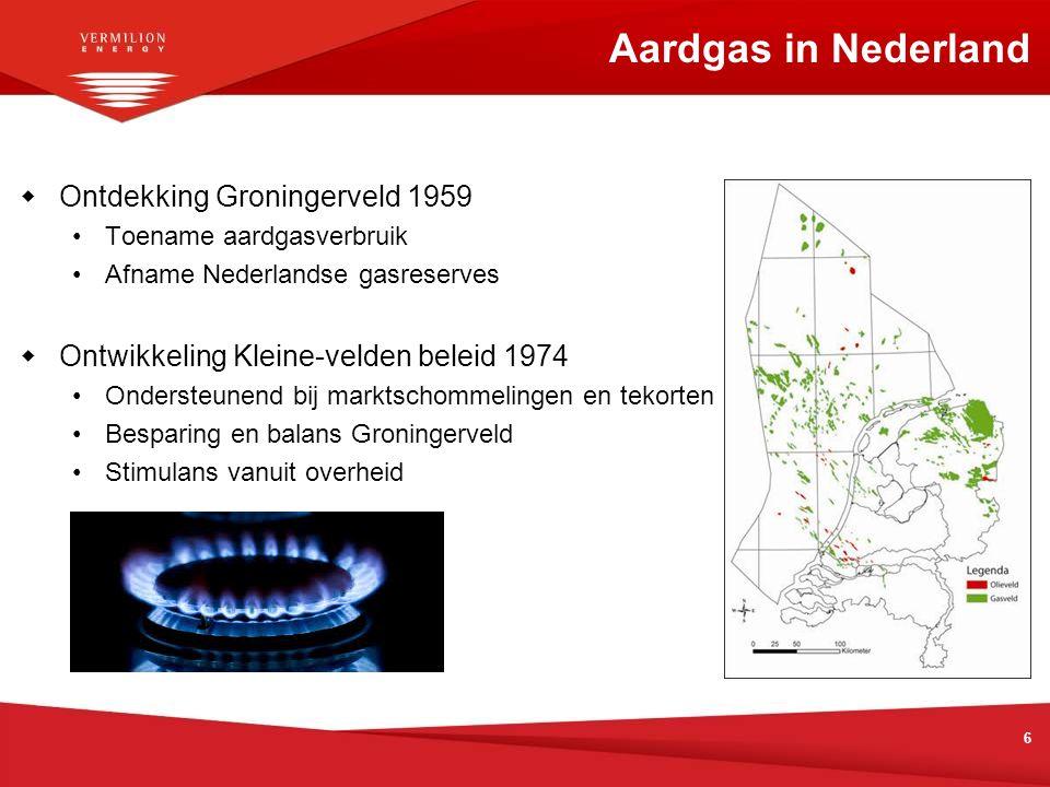 Aardgas in Nederland Ontdekking Groningerveld 1959