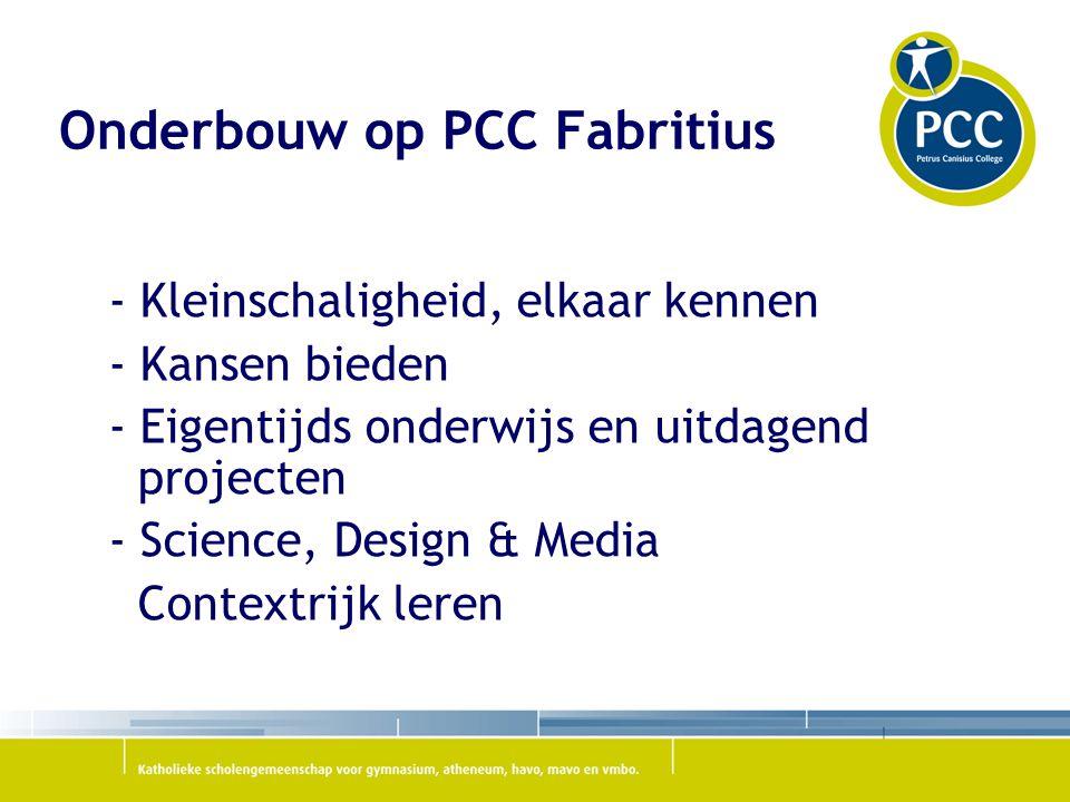 Onderbouw op PCC Fabritius
