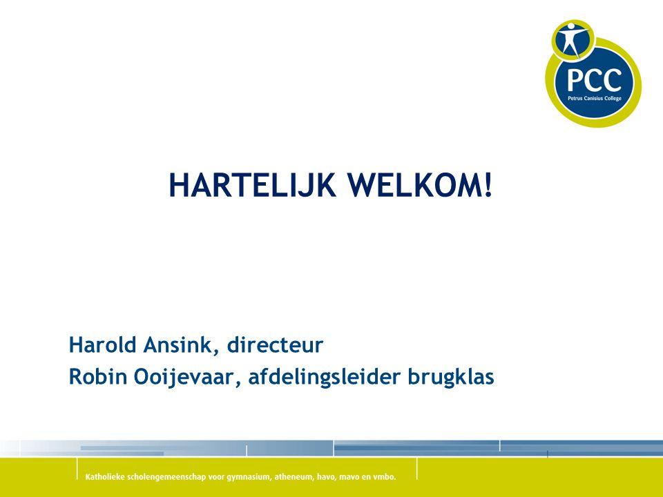 Harold Ansink, directeur Robin Ooijevaar, afdelingsleider brugklas