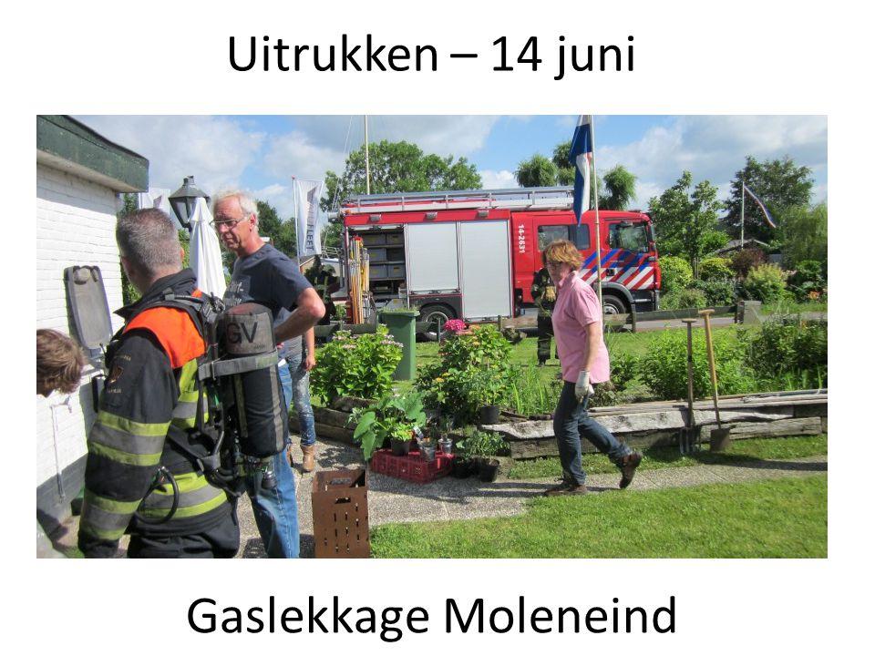 Uitrukken – 14 juni Gaslekkage Moleneind