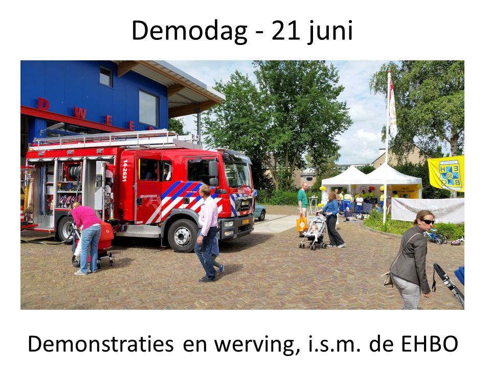 Demonstraties en werving, i.s.m. de EHBO