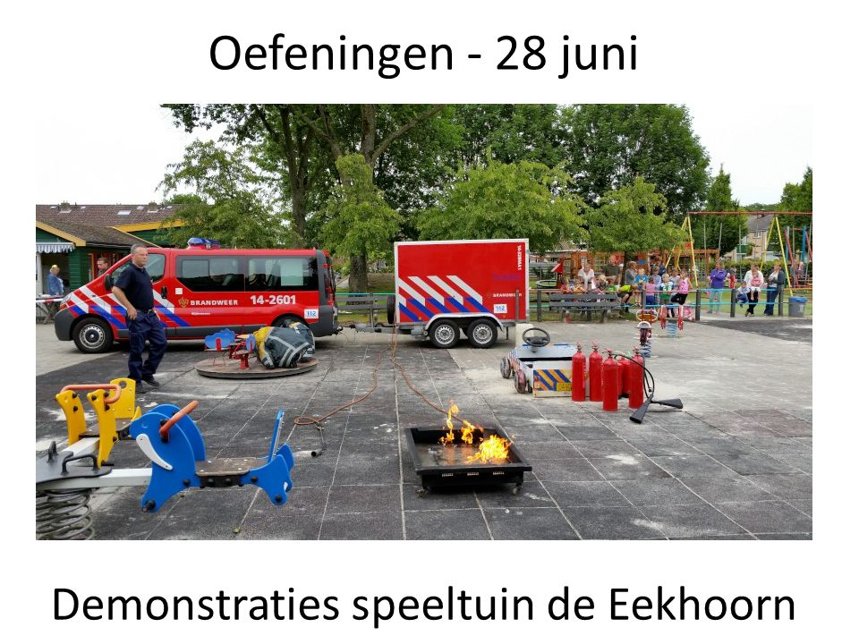 Demonstraties speeltuin de Eekhoorn