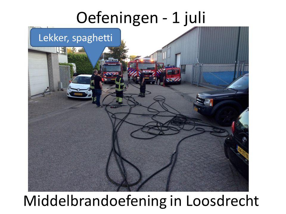 Middelbrandoefening in Loosdrecht