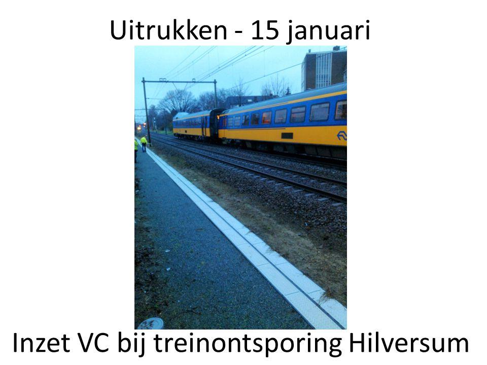 Inzet VC bij treinontsporing Hilversum